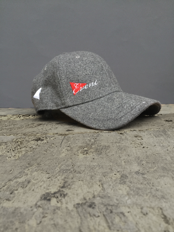 MELTON WOOL BASEBALL CAP - GREY ONLY