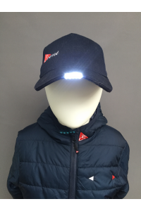 COTTON DRILLL 'LED LIGHT' CAP - NAVY ONLY