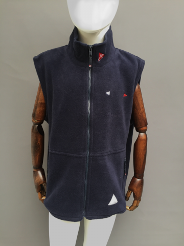 KIDS FLEECE GILET - NAVY, DK GREY, RED
