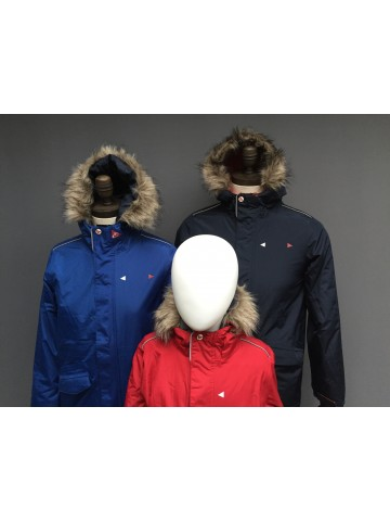 KIDS FUR HOODED WATERPOOF PARKA