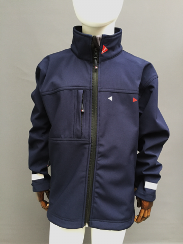 KIDS WATERPROOF STRETCH JACKET - NAVY, RED