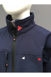 KIDS ALL WEATHER  JACKET - NAVY, RED