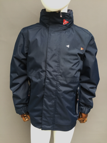 KIDS STORM INSULATED JACKET - NAVY, RED