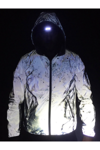 MENS REFLECTIVE BOMBER JACKET