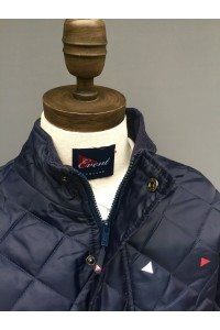 KIDS CHELTENHAM JACKET - NAVY & BLACK