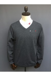 MENS V NECK SWEATER - NAVY, DK GREY, LT GREY