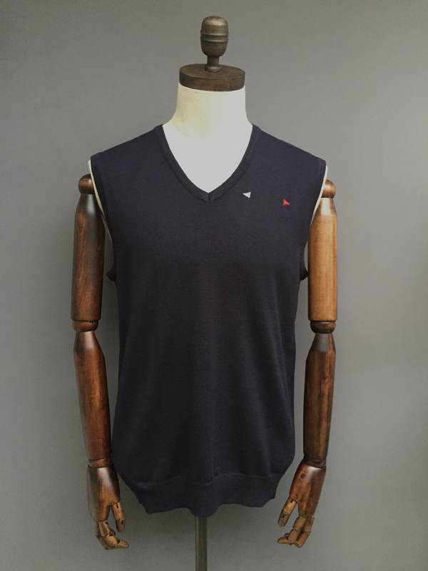 MENS V-NECK VEST - NAVY