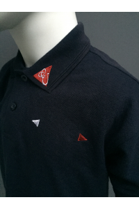 KIDS PIQUE POLO - NAVY, RED, WHITE