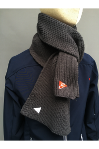CHUNKY KNITTED SCARF - NAVY, GREY