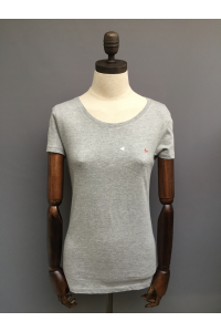 WOMENS ORGANIC T-SHIRT - NAVY, LT GREY, WHITE