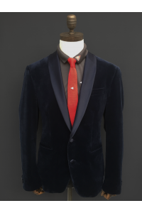 KNITTED SLIM TIE - 3 COLOURS - NAVY, GREY, RED