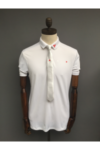 SATIN SLIM TIE - WHITE ONLY