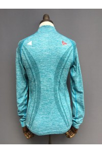 WOMENS 3D STRETCH SEAMLESS  ZIP TOP - 3 COLOURS