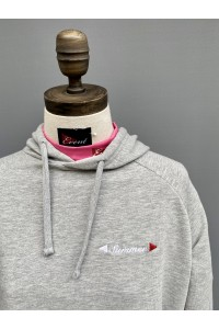 WOMENS CROPPED CURVE BACK HOODIE - 3 COLOURS