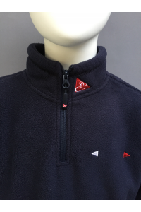KIDS ZIP NECK FLEECE TOP - NAVY ONLY